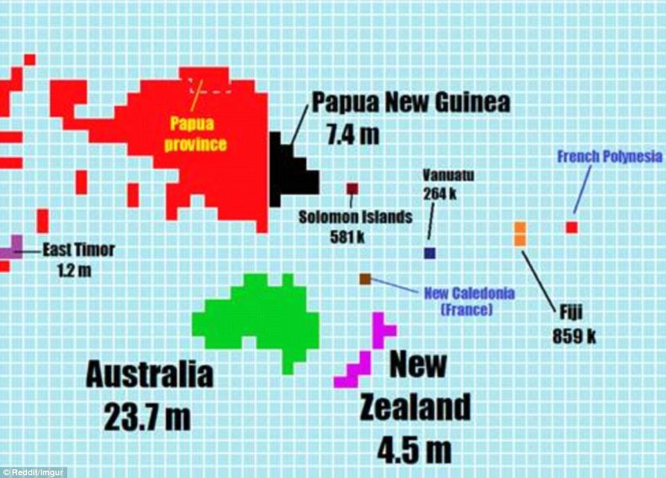 """新地图澳洲缩成""""小不点"""""""